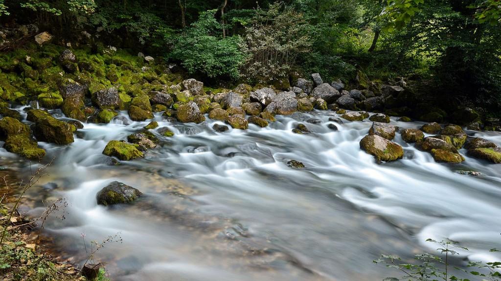 Заштићени природни предио Плива, Јањ са резерватом Јањске отоке. аутор: Samirzahirovic, cc by-sa 3.0; Викимедијина остава https://commons.wikimedia.org/wiki/File:Vrelo_Plive.JPG